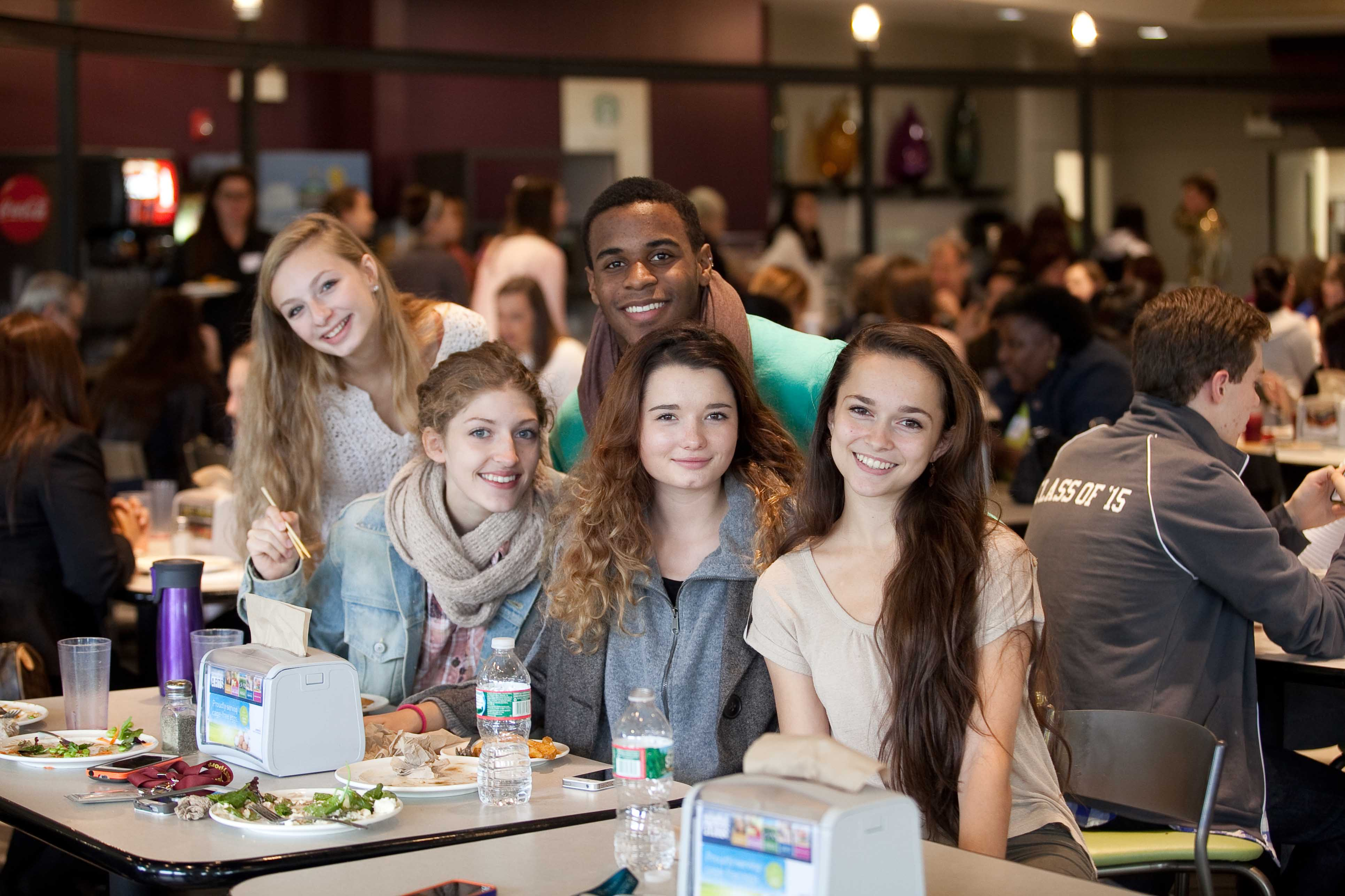 Students in the Walnut Hill Dining Hall